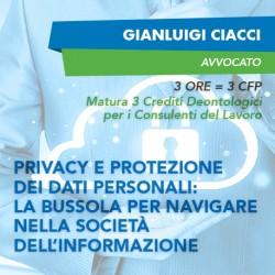 Corsi e-learning - Privacy e protezione dei dati personali: la bussola per navigare nella società dell'informazione
