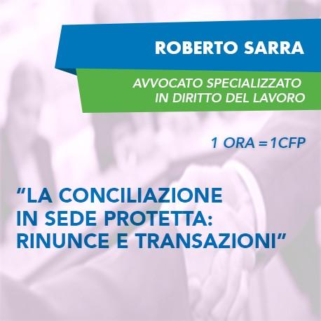 Corsi e-learning - La conciliazione in sede protetta: rinunce e transazioni