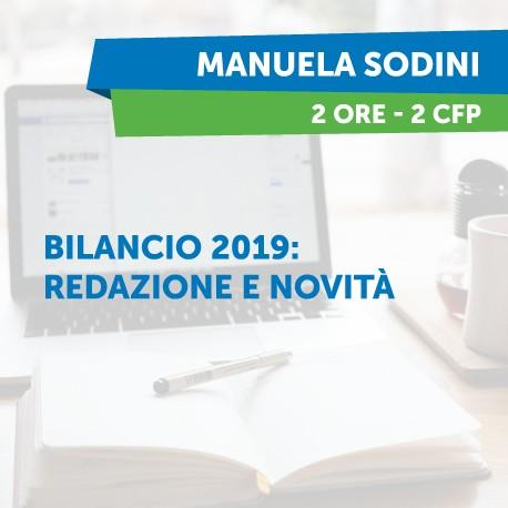 Bilancio 2019: redazione e novità