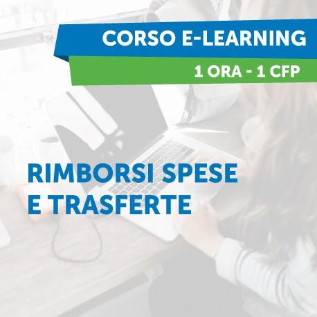Corsi e-learning - Rimborsi spese e trasferte