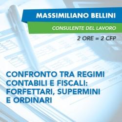 Corsi in aula - Confronto tra regimi contabili e fiscali: Forfettari, Superminimi e Ordinari